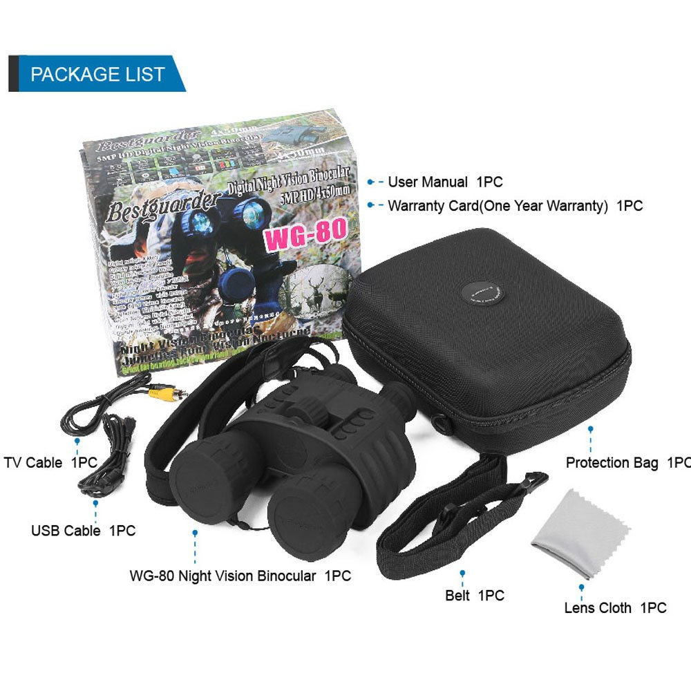 Bestguarder WG-80 Best Night Vision Binoculars pic-1
