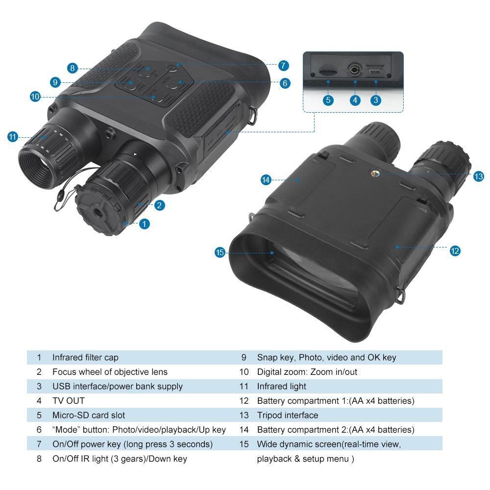 Best Night Vision Binoculars NV400-B-5