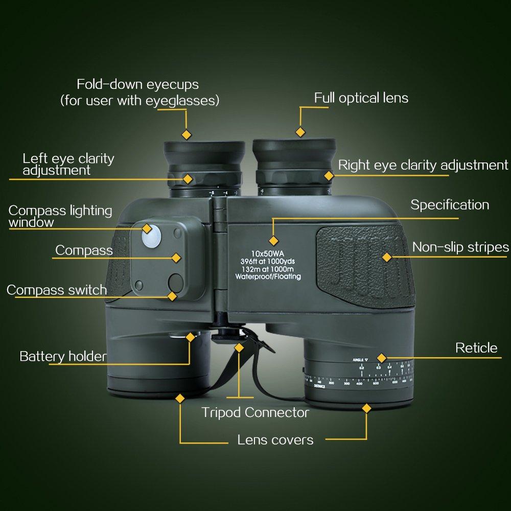 hunting binoculars with rangefinder pic