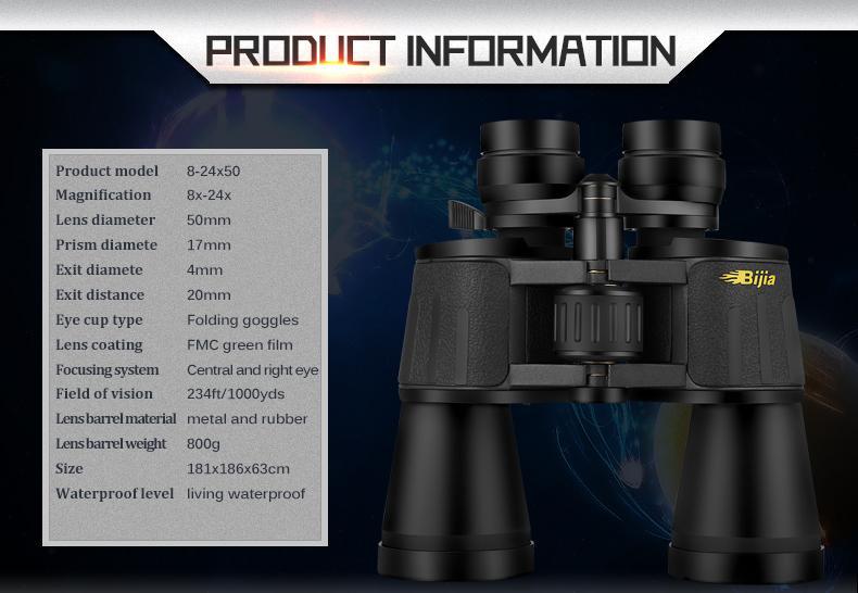 Hunting Binoculars spec pic
