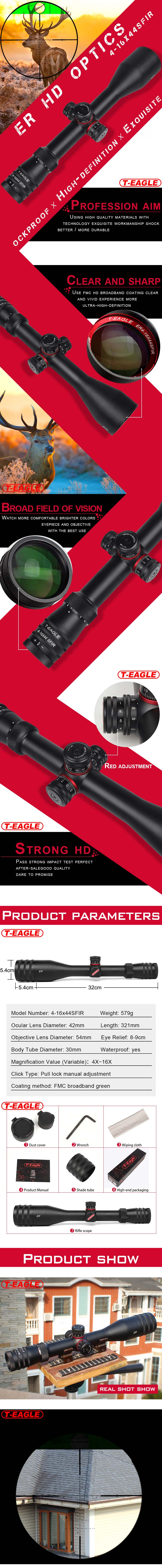 Tactical Long Range Scopes T-EAGLE ER 4-16x44 Shooting Optical PIC-2