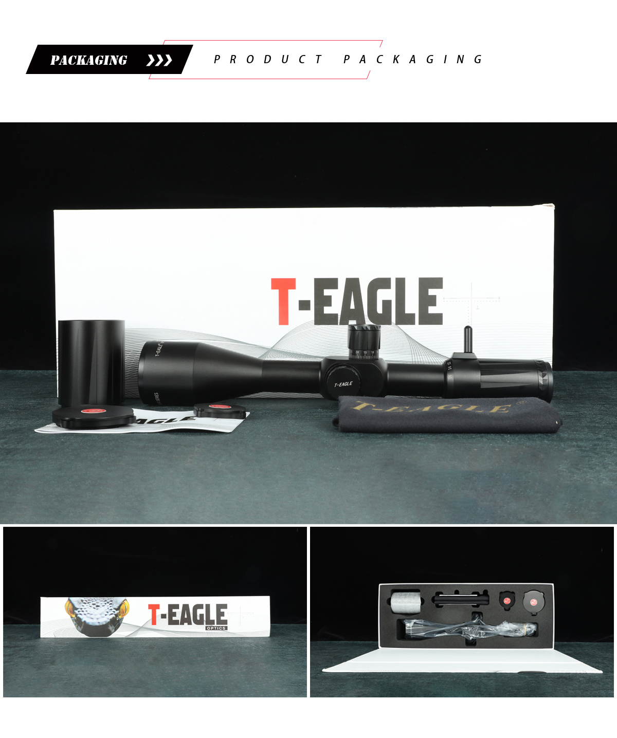 Best Hunting Scope Reticle T-EAGLE Viper 4-16x50 FFP Riflescope Optical Sight pic-1